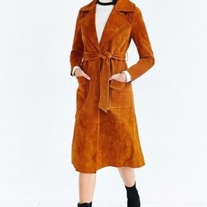 Urban Outfitters x Ecote Suede Trench Coat New M